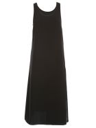 Maison Margiela Dress W/s Satin Crepe - Black Ecru