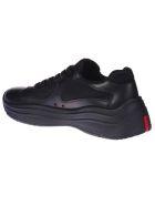 Prada Linea Rossa Classic Knit Sneakers - Black
