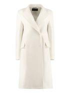 Alberta Ferretti Virgin Wool Double-breasted Coat - panna