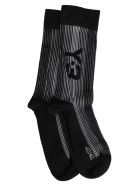 Y-3 Black And White Logo Socks