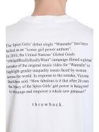 Throw Back Spice White Cotton T-shirt - White