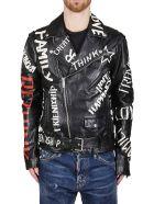 Golden Goose Black Leather Jacket - Black