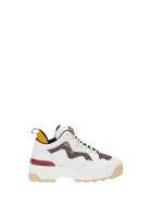 Fendi T-rex Sneaker With Ff Panels - Bianco