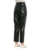 Nanushka Mitsu Pleat Front Cigarette Vegan Leather Pants - Nero