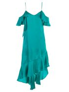 SEMICOUTURE Satin Midi Dress - Emerald