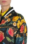 Fausto Puglisi Floral Print Bomber Jacket - MULTICOLOR