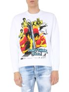 Dsquared2 Bruce Lee Sweatshirt - BIANCO