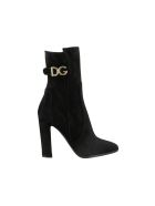 Dolce & Gabbana Suede Ankle Boots - Nero