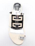 Givenchy 4g Logo Flat Sandals - Silver/natural