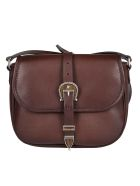 Golden Goose Brown Leather Star Buckle Crossbody Bag - Brown