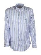 Etro Striped Jacquard Cotton Shirt - Light Blue