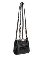 Nico Giani Olivia Croco-print Leather Shoulder Bag - black