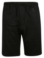 Y-3 Logo Print Shorts - Black