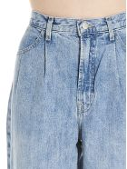 J Brand 'pleated Peg' Jeans - Light blue