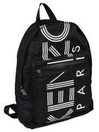 Kenzo Logo Zipped Backpack - Black