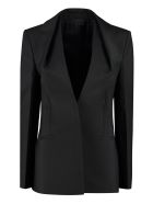 Givenchy Wool Blend Single-breasted Blazer - black