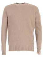 Drumohr Sweater Crew Neck Wool - Beige