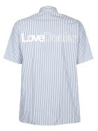 Golden Goose Howard Shirt - White/blue stripes