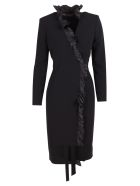 Max Mara 'suez' Triacetate Dress - Black