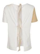 SEMICOUTURE Ruffled Trim T-shirt - White