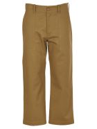 Jejia Brown Cropped Tousers - Brown