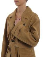 Golden Goose Belted Coat - Olive