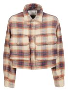 R13 Camicia Oversized - E Beige Plaid