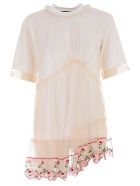 Simone Rocha Floral Embroidered T-shirt - White Pearl
