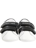 Givenchy White Shoes For Babykids With Logo - White