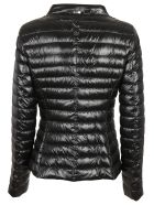 Herno High Neck Buttoned Down Jacket - Nero