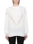 See by Chloé Lace Sweater - White