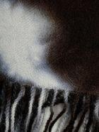 Suzusan Marble Pattern Scarf - Black Light Grey