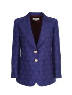 Gucci Wool And Silk Jacket - Royal bluette/mix