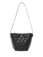 Givenchy Quilted Gv Mini Bucket - Nero
