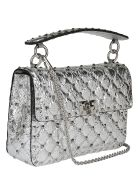 Valentino Garavani Medium Handbag - Silver/pastel grey