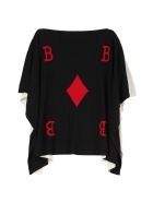 Boutique Moschino Knitted Wool Blend Cape - Multicolor