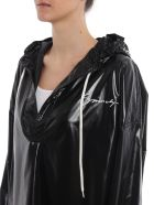 Givenchy Oversized High Shine Hooded Top - Black
