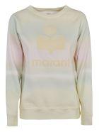 Isabel Marant Logo Detail Classic Sweatshirt - Yellow/Green