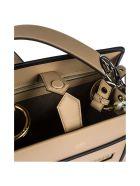 Fendi  Leather Handbag Shopping Bag Purse Runaway Small - Beige