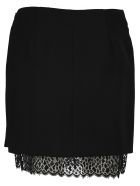 Givenchy Wool And Lace Mini Skirt - SILK