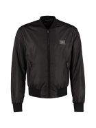 Dolce & Gabbana Nylon Bomber Jacket - black