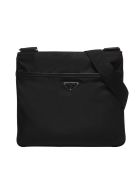 Prada Logo Plaque Shoulder Bag - Nero