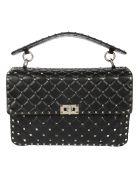 Valentino Rockstud Quilted Large Shoulder Bag - 0no Nero