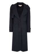 Marni Double-breasted Wool Trench Coat - blue