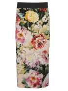 Dolce & Gabbana Rose Print Pencil Skirt - floral