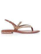 Ash Peps Studded Sandals - Cuoio