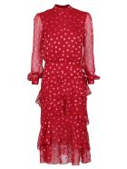 Saloni Dress - Rosso/rosa