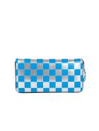 Comme des Garçons Wallet Polka Dot Zip Around Wallet - Blue