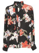 Rochas Floral Print Shirt - Black
