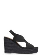 Castañer Federica Wedges With Crossed Bands - black